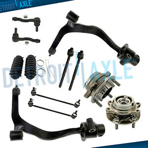 12pc Front Lower Control Arms Wheel Hub Kit For 2003 2008 Infiniti Fx35 Fx45 Awd