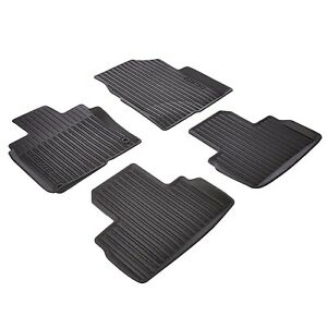 Genuine Rubber Black All season Mud Catching Floor Mats For Honda Civic
