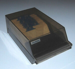 Rolodex Covered Business Card File Vip24c Blank Cards Vtg Box Smoke A z Tabs