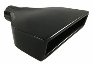 Exhaust Tip 7 75 X 2 25 Outlet 10 00 Long 2 75 Inlet Rolled Rectangle Slant B