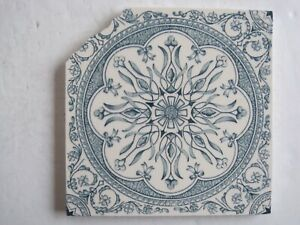 Antique Victorian Blue Aesthetic Transfer Print Tile Wedgwood C1870 90