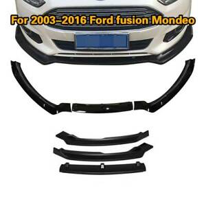 For Ford Fusion Mondeo 2013 2016 Front Bumper Lip Splitter Body Kit Spoiler 3pcs