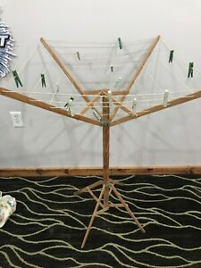 Antique Primitive Clothes Drying Rack Collapsible
