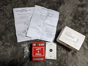 Siemens 500 698218 Metal Fire Alarm Lift Pull Station System Red W Keys
