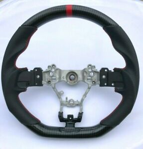Performance Leather Hydro Carbon Steering Wheel For 2015 2020 Subaru Wrx And Sti