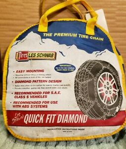 Quick Fit Diamond Premium Tire Chains Sae Class S Vehicles With Abs Les Schwab