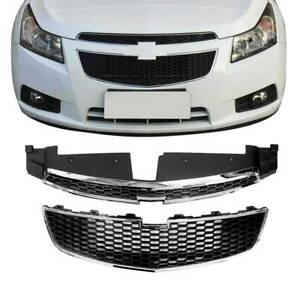 Front Bumper Upper Lower Grille Pair Set Of 2 Pcs For 2011 2014 Chevy Cruze Us