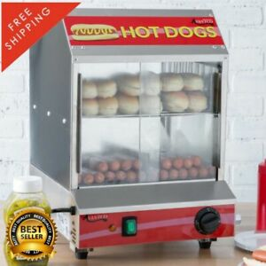 175 Hot Dog Steamer 40 Bun Electric Commercial Concession Warmer Stand 120 Volt