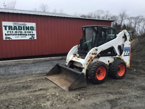 2001 Bobcat 773g Skid Steer Loader W Cab Kubota Diesel Engine