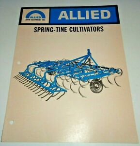 Allied 2216 2618 3022 3424 3826 Spring tine Cultivator Sales Brochure Original