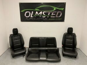 10 15 Camaro Ss Front Rear Driver Passenger Power Leather Seats Ebony Oem Gm
