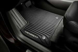 2018 2020 Chevy Traverse First Row All Weather Floor Mats Black 84162515 Gm