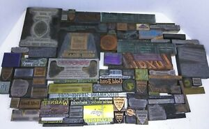 Antique Vintage Buffalo Ny Ad Letter Press Printing Plate Cut Stamp Block Lot A