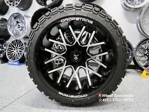 22x14 Tis Dropstar Offroad Wheels 33 At Mt Tires Package Fit Chevy Suburban 4