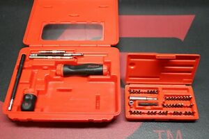 Snap On Magnetic Ratcheting Screwdriver Set In Case Soft Grip Stubby