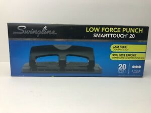 New Swingline Low Force Punch Smarttouch 20sheet 3 Hole Punch Nib Fast Shipping