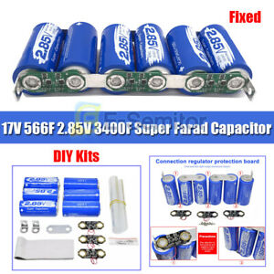 17v566f Super Farad Capacitor 2 85v 3400f Single Row Power Electric Capacity Diy