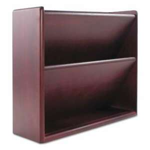 Carver Hardwood Double Wall File Letter Two Pocket Mahogany 018387096233