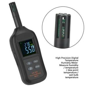 Digital Temperature Humidity Meter Thermo hygrometer Dew Point Wet Bulb Tester