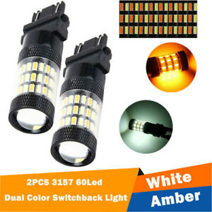 Fit For Chevy Silverado 1500 2500 White Amber Switchback Led Turn Signal Lightx2