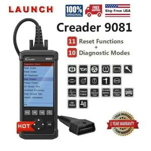 Launch Creader Cr9081 Obd2 Code Reader Scanner Abs Gear Learning Injector Coding
