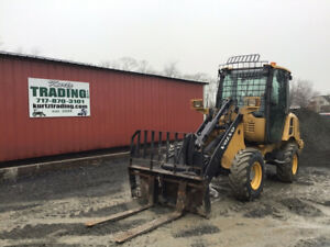 2012 Volvo L20f p 4x4 Compact Wheel Loader W Bucket Forks New Tires