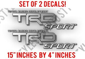 Trd Sport Truck Bed Vinyl Decal Stickers Fits Toyota Tundra Tacoma Silver Grey