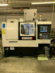 2017 Ganesh Cyclone 32cs Cnc Lathe W 2018 Edge Patriot 338 Barfeeder