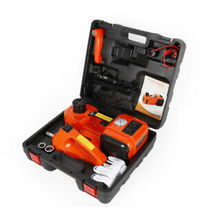 12v Dc 3t Auto Car Electric Hydraulic Floor Jack Lift And Impact Wrench 10 Bar