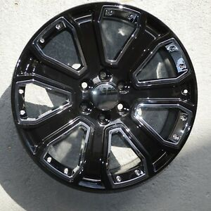 Set Of 4 Wheels 22 Inch Black Rims Fits Et31 Ford Expedition 2003 2019