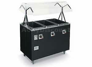 Vollrath T39 3 Well Mobile Electric Cafeteria Hot Food Steam Table