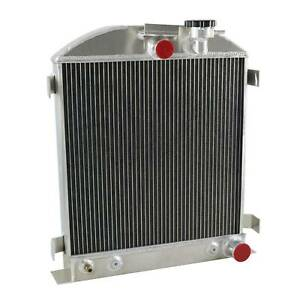 3 Rows Aluminum Radiator Fit 1939 1940 Ford Grill Shells 3 Chopped Chevy Engine