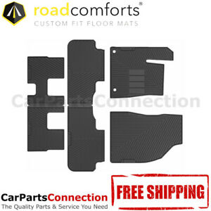 Road Comforts All Weather Floor Mat 218214 3 Rows Set For Toyota Highlander 2017
