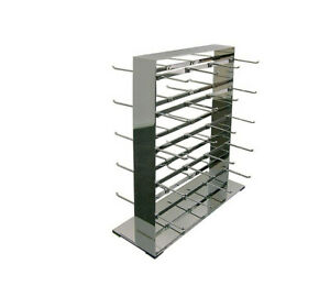 Polished Chrome 40 Hooks Double Sided Jewelry Display Retail Store Fixture