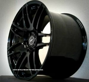 New Forgestar F14 Wheels Deep Concave 18x10 19x12 Fits 2006 2013 Z06 Gs