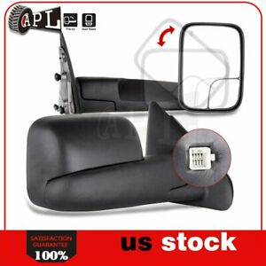 Power Heated Tow Mirrors For 2002 2008 Dodge Ram 1500 2003 2009 2500 3500