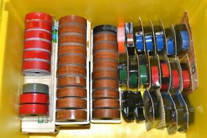 Dymo Tapewriter Labelmaker Tape Large Lot 3 8 1 2 Inch