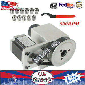 Cnc Engraving Machine Router Axis Hollow Shaft 4th Axis Er32 Collet 3 20mm