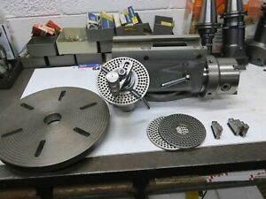 Deckel Dividing Head With Chuck Faceplate Milling Machine Attachment