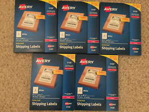 Lot 5 Packages Avery Internet Shipping Labels 5126 200 5 1000 Labels Total