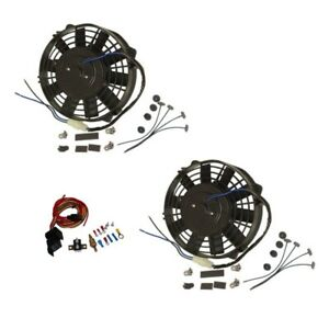 Dual Electric 9 Straight Blade Reversible Cooling Radiator Fans