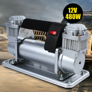 Double Cylinder Air Pump Compressor 12v 13 8v Heavy Duty Car Auto Tire Inflator