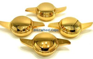 2 Bar Smooth Gold Knock Offs Spinners For Lowrider Wire Wheels