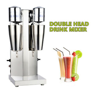 Durable Quality stainless Steel Milk Shake Machine Double Head Drink Mixer 110v