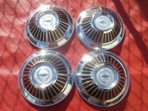 Vintage 1963 Chevy Z11 Impala 409 Dog Dish Poverty Hubcaps Wheel Covers