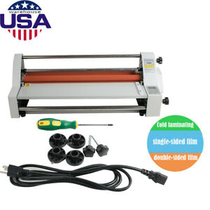 Brand New 17 Hot Cold Roll Laminator Single dual Sided Laminating Machine Ce