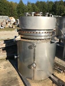 200 Gallon 316l Stainless Steel Reactor Rated 150 Psi And Full Vaccum