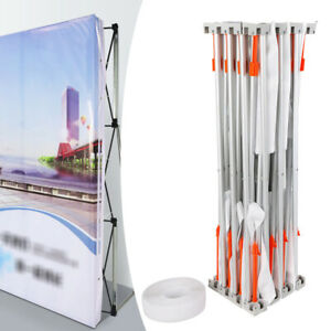 8x8ft Pop up Tension Trade Show Display Booth Frame Stand Backdrop Booth Frame