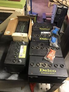 6 Delco New Old Stock Battery s