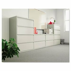 Alera Two drawer Lateral File Cabinet 42w X 19 1 4d X 28 3 8h Light Gray New